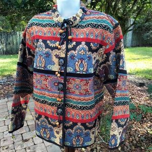 Gorgeous Vintage Tapestry Jacket EUC XL